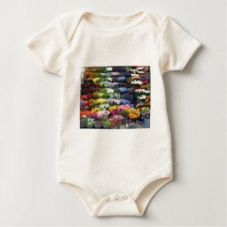 Flowers market baby bodysuit