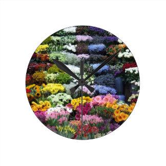 Flowers market clocks