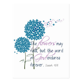 Flowers may fall... postcard