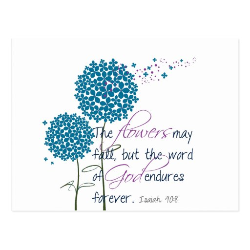 Flowers may fall... post cards