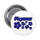 Flowers & Me Button