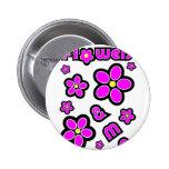 Flowers & Me Pinback Button