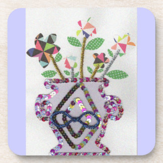 Flowers Meets Vase Coaster