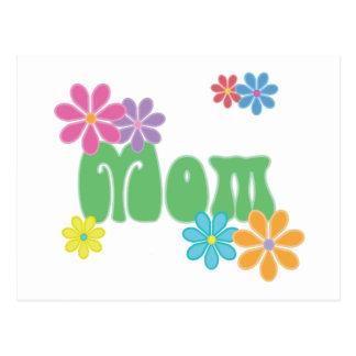 Flowers & Mom Postcard