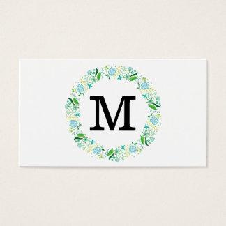 Flowers | Monogram Business Card