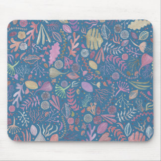 Flowers multicoloured smooth watercolors mouse pad