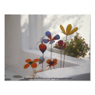 Flowers-Mykonos, Greece Custom Invites