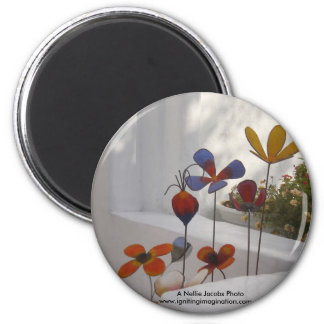 Flowers-Mykonos, Greece Fridge Magnets