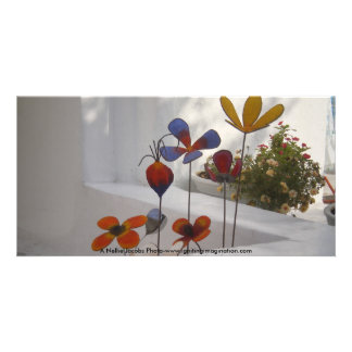 Flowers-Mykonos, Greece Picture Card