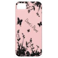 Flowers n Butterflies Pink Personal iPhone 5 Case
