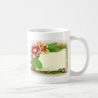 Flowers Name Tag Coffee Mug