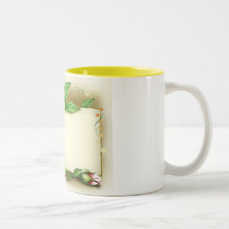 Flowers Name Tag Two-Tone Coffee Mug