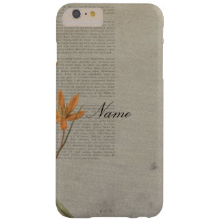Flowers Newspaper Barely There iPhone 6 Plus Case