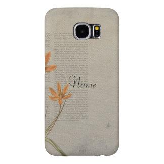 Flowers Newspaper Samsung Galaxy S6 Case