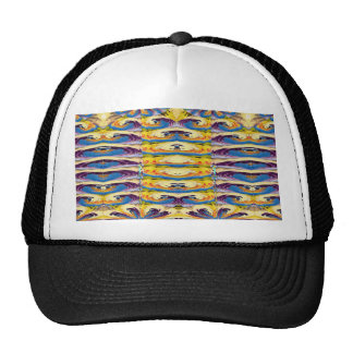 Flowers Oasis Waves Patterns graphic Art on Shirts Trucker Hat