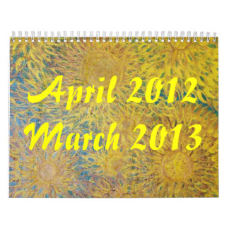 Flowers of 2012 - 2013 wall calendars