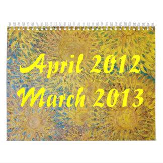Flowers of 2012 - 2013 wall calendars