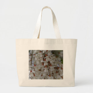 Flowers of a black locust large tote bag