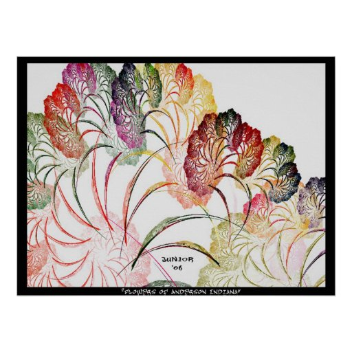 Flowers of Anderson Indiana Poster