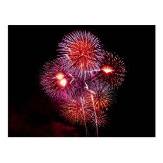Flowers of Fire Festive Fireworks Postcard