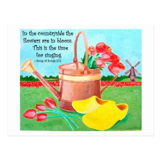 Flowers of Friendship Inspirational Postcard
