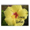 Flowers of Hawaii Calendar calendar