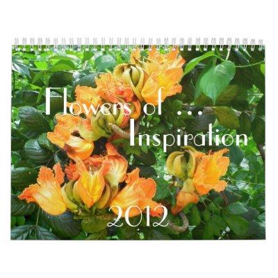 Flowers of Inspiration Calendars