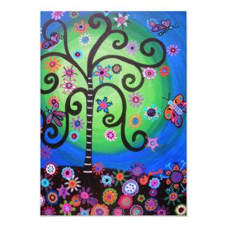 FLOWERS OF LIFE BAR/BAT MITZVAH CARD