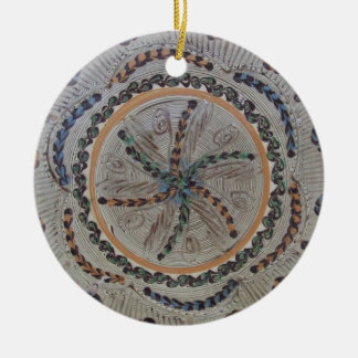 Flowers of Life Double-Sided Ceramic Round Christmas Ornament