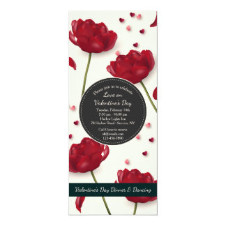 Flowers of Love Invitation Cream Background