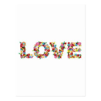 flowers of love postcard
