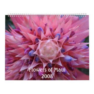 Flowers of Maui 2008 Calendar