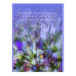 Flowers of One Garden Baha'i Postcard