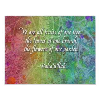 Flowers of One Garden Baha'i Poster