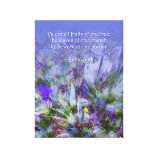 Flowers of One Garden Baha'i Unity Canvas Print