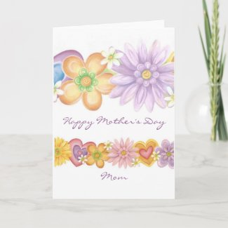Flowers of Passion, Happy Mother's Day Mom zazzle_card