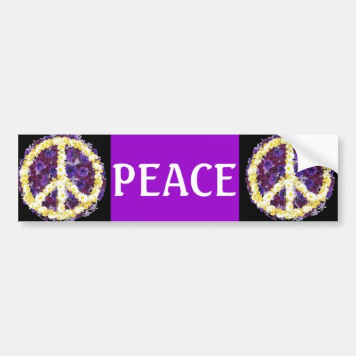 flowers of peace car bumper sticker