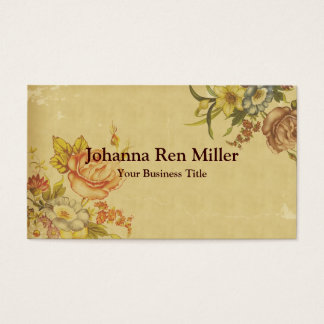 Flowers of Spring - Faux Vintage Style Business Card