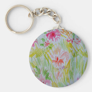 Flowers of Summer Watercolor 2013 CricketDiane Keychains