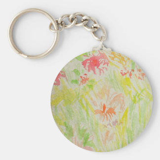 Flowers of Summer Watercolor 2013 CricketDiane v1 Keychains