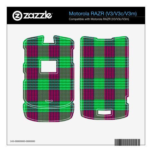 Flowers of the Forest Plaid Decal For Motorola RAZR