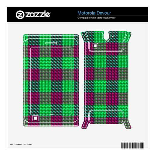 Flowers of the Forest Plaid Skin For Motorola Devour
