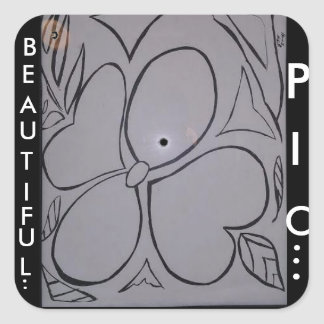 Flowers of the Garden....upon my Life..!!!!! Square Sticker