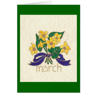 FLOWERS OF THE MONTH- MARCH GREETING CARD