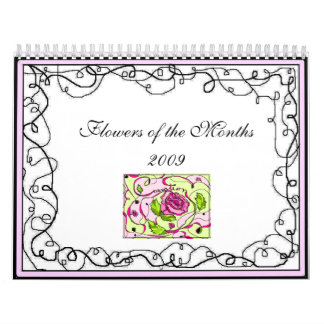 Flowers of the Months 2009 - Customized Calendar