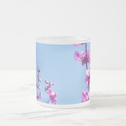 Flowers of the Purple Pod 10 Oz Frosted Glass Coffee Mug