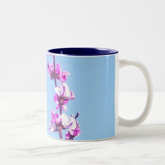 Flowers of the Purple Pod Two-Tone Coffee Mug