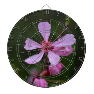 Flowers of the Russian Almond Tree Dartboard With Darts