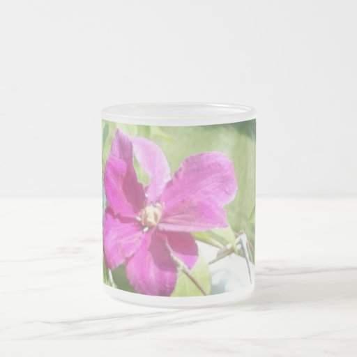 Flowers of the Vine Frosted Glass Coffee Mug