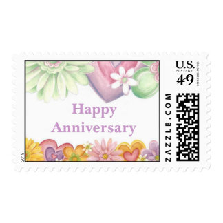 Flowers of Time-Happy Anniversary -1 Postage